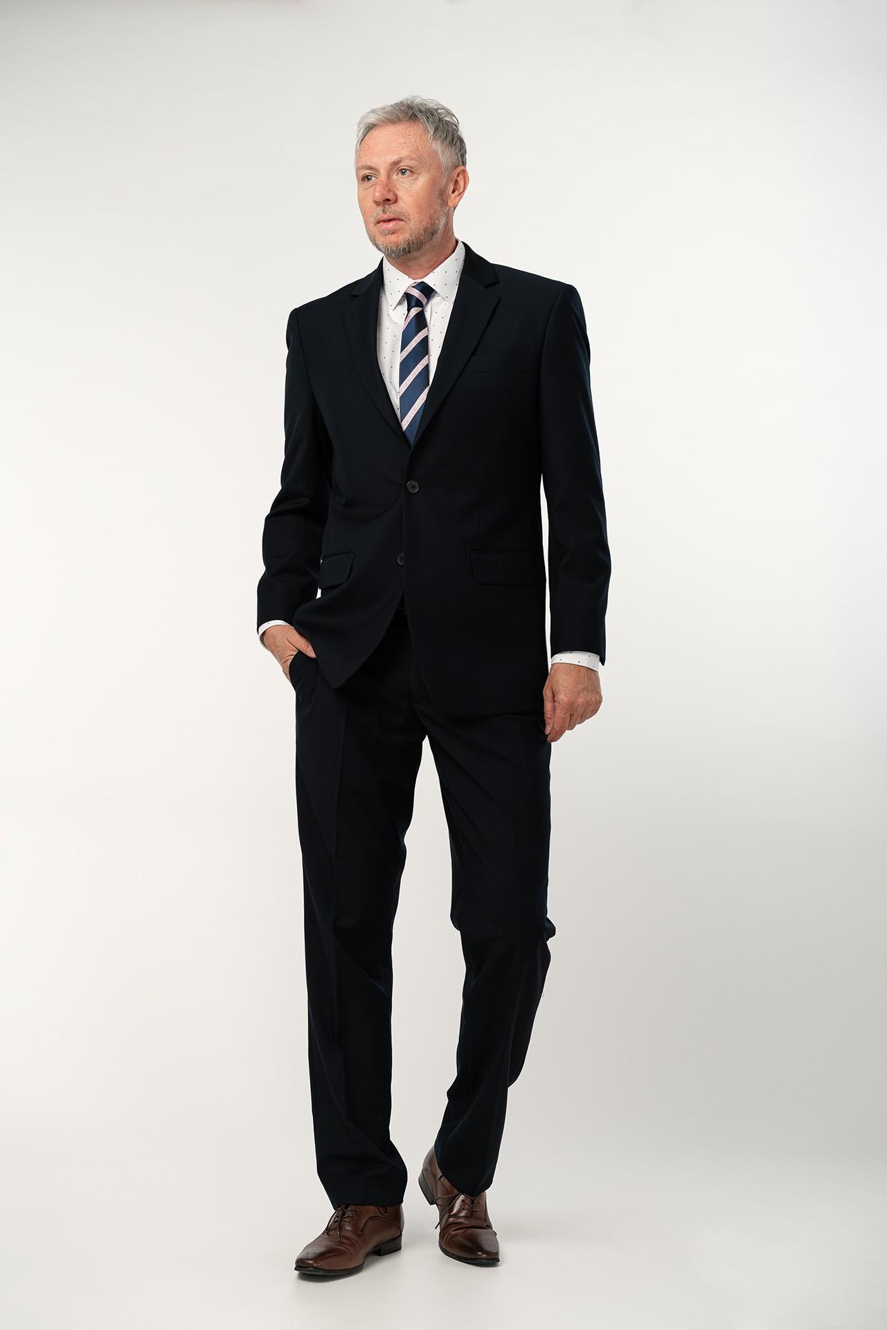 Pánský oblek - tmavě modrý